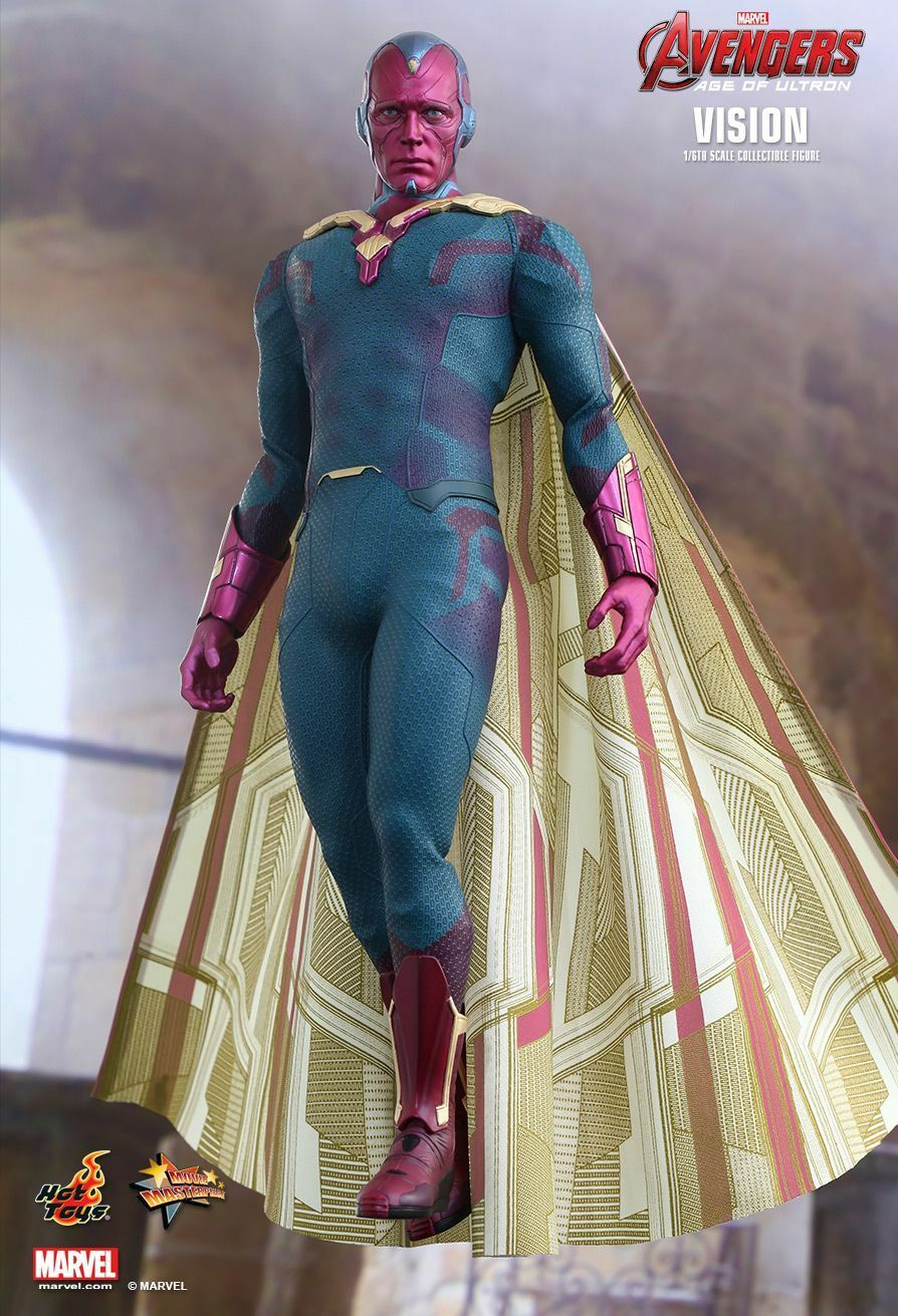 HOT TOYS 1/6 MARVEL AVENGERS AGE OF ULTRON MMS296 VISION MASTERPIECE FIGURE