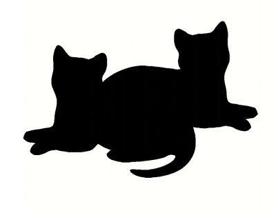 cat sticker stylised vinyl decal wall car laptop mirror door black cat cute uk