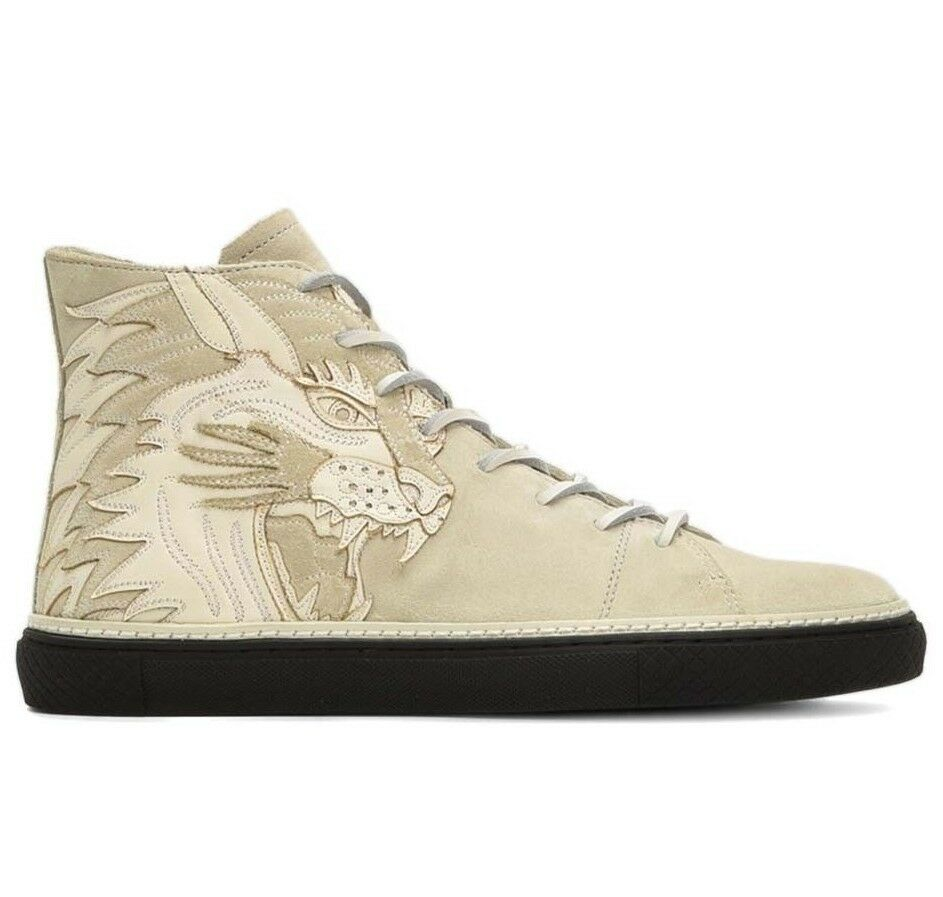 NEW FRYE Sz8US GATES TIGER TATTOO-INSPIRED HIGH-TOP LEATHER SNEAKER ANTIQUE