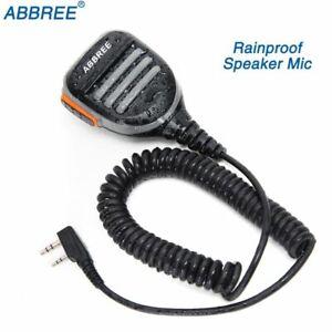 Abbree-Wasserdichtes-Lautsprecher-Mikrofon-fuer-Baofeng-UV-5R-UV-82-Walkie-Talkie