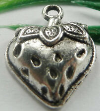 Wholesale free ship 200pcs tibet silver strawberry charms 20x15mm