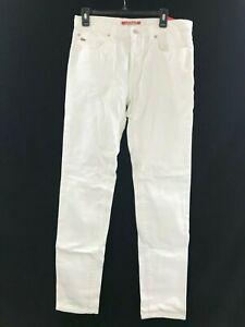 deba4012 Details about Mens Lacoste Live slim fit white cotton button fly denim  jeans crocodile 32 X 34