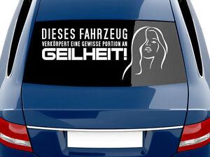 Details Zu Autoaufkleber Auto Aufkleber Tattoo Für Heckscheibe Spruch Dieses Fahrzeug
