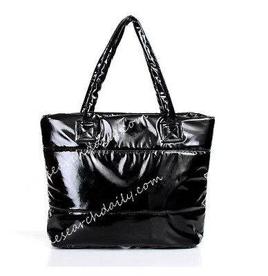 Women Puffy Shoulder Bag Tote Cotton Quilted Handbag Satchel Shopper Space Bale