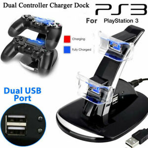 LED-Dual-Controller-Charger-Dock-Station-Stand-Charging-For-Playstation-PS3