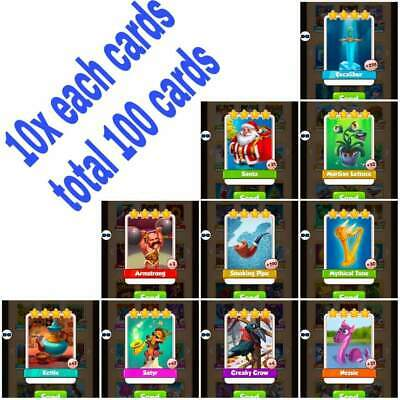 rare cards in coin master