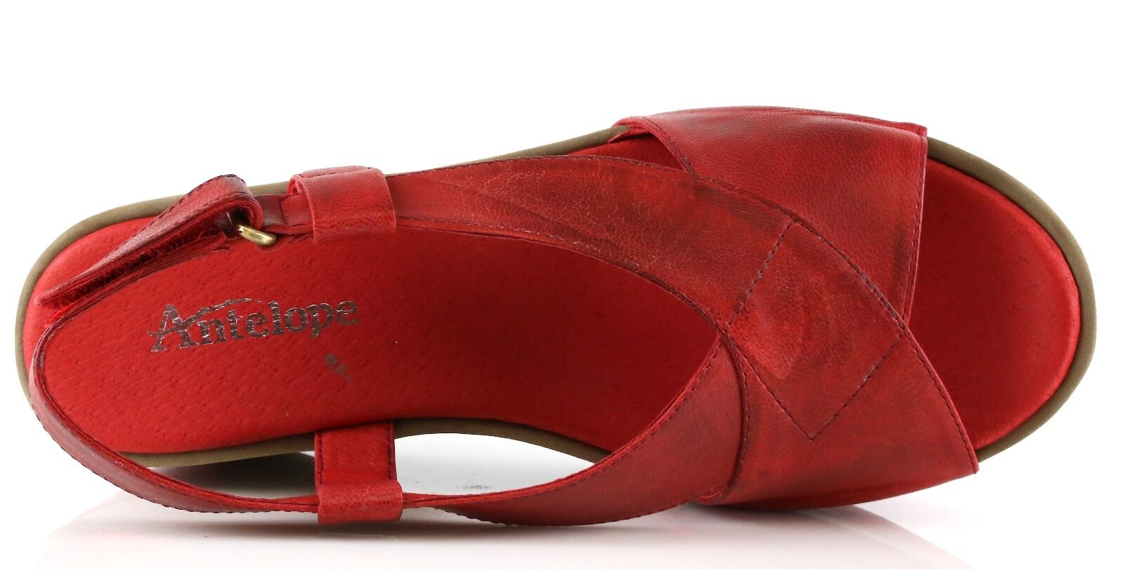 Antelope Donna's rosso Leather Wedge Wedge Wedge Sandals 8969 Dimensione 41 EU NEW  f3e2b8