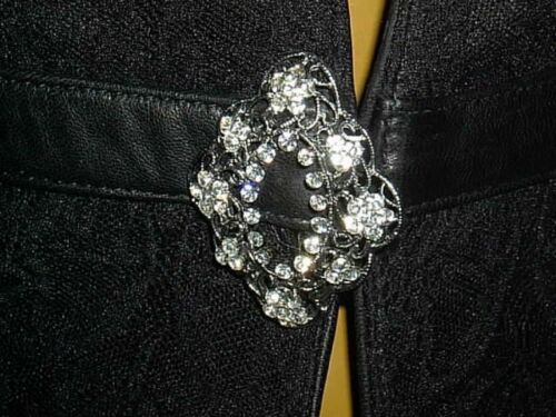 Blazer Pelle Lederjacke M Luxus Ab17 Lammnapa Strass Anilin Traum 42 Schwarz CExxqT5wR
