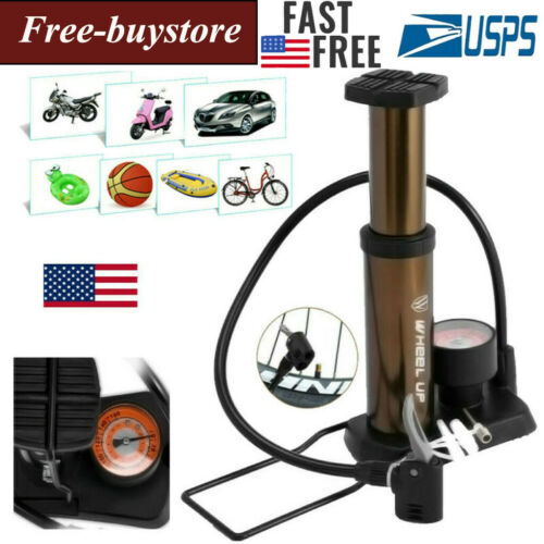 Portable Bicycle Cycling Air Pump Compact Bike Sports Tire Inflator Valve Tool