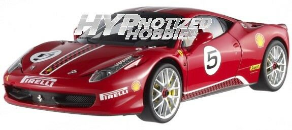 HOT WHEELS ELITE 1 18 FERRARI 458 CHALLENGER DIECAST rosso X5486