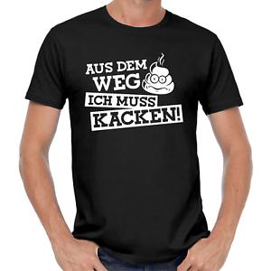 Aus-dem-Weg-ich-muss-kacken-Sprueche-Comedy-Lustig-Spass-Fun-Party-Feier-T-Shirt