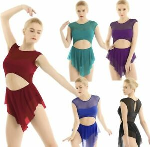 da7133b82 Image is loading Contemporary-Lyrical-Dance-Costume-Competition-Festival- Modern-Leotard-