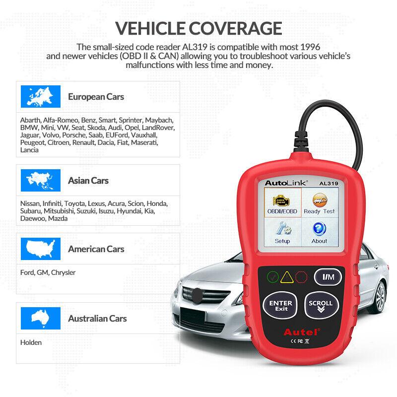Autel Autolink AL319 OBD2 CAN OBDII Auto Car Code Reader Diagnostic Scanner Tool 8