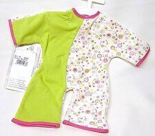 Schwenk Puppenkleidung, Puppen Overall, neongrün, für 36 - 40 cm Puppen