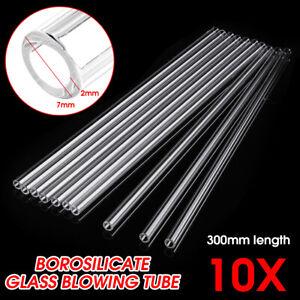 10Pcs-300mm-OD-7mm-2mm-Thick-Borosilicate-Tubing-Glass-Pyrex-Blowing-Tube-Lab