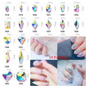 10x 3D AB Crystal Nail Art Rhinestone Gems Decor Glitter DIY Diamond ... 93d48c51f691