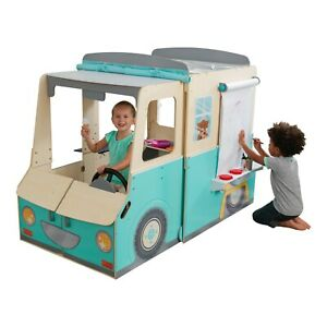 Wondervan Indoor Playhouse with Art Center, Play Kitchen & Magnets by KidKraft