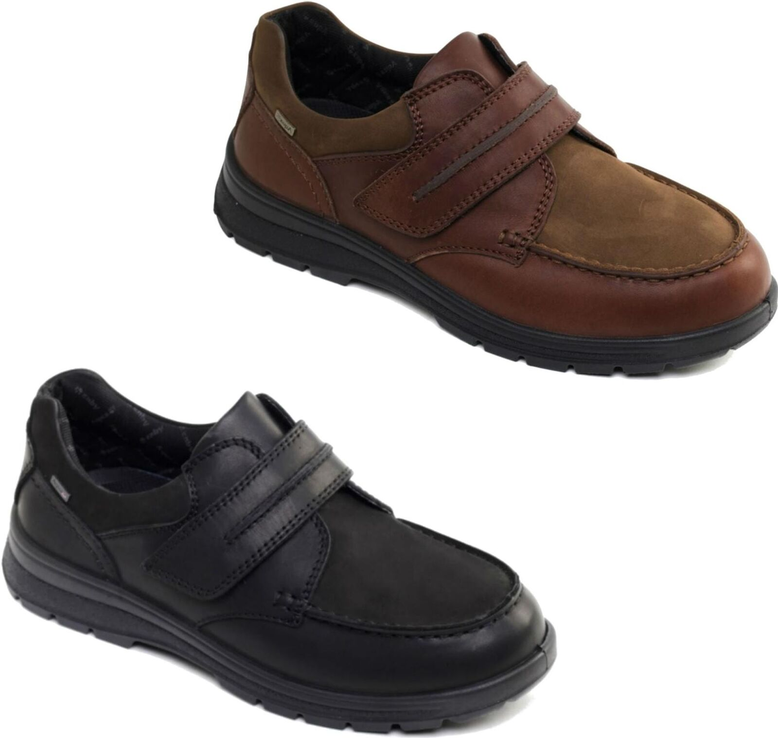 Padders TREK Mens Waterproof Leather Extra Wide Dual Fit (G H) Touch Close shoes