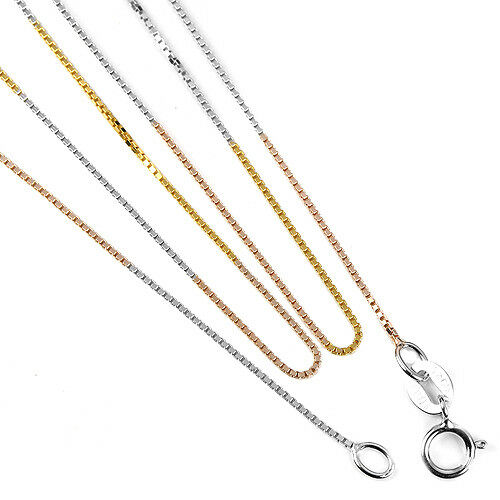 IMPRESSIVE AAA STERLING 925 SILVER 3-TONE NECKLACE LENGHT 18 INCH.