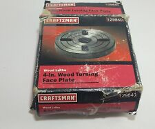 Old Craftsman 4 inch wood turning face plate for atlas lathe in original box