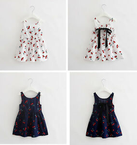 3aded69b411 Image is loading Summer-Baby-Girl-Clothes-Newborn-Toddler-Cherry-Party-