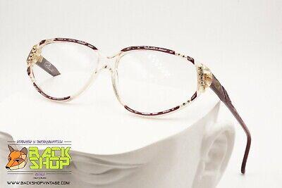 Bene Richard Mod. 027 Rare Luxury Vintage Women Eyeglass Frame, Strass Adorned, 1970s Famoso Per Materiali Selezionati, Disegni Innovativi, Colori Deliziosi E Lavorazione Squisita