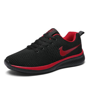 Men-039-s-Running-Shoes-Fashion-Sports-Sneakers-Flyknit-Casual-Breathable-Athletic