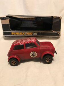 HonnêTe Vintage Scalextric Voiture Mini 1275 Gt Rallye Spécial. C122 Rouge Slot Car. Nº 4-afficher Le Titre D'origine
