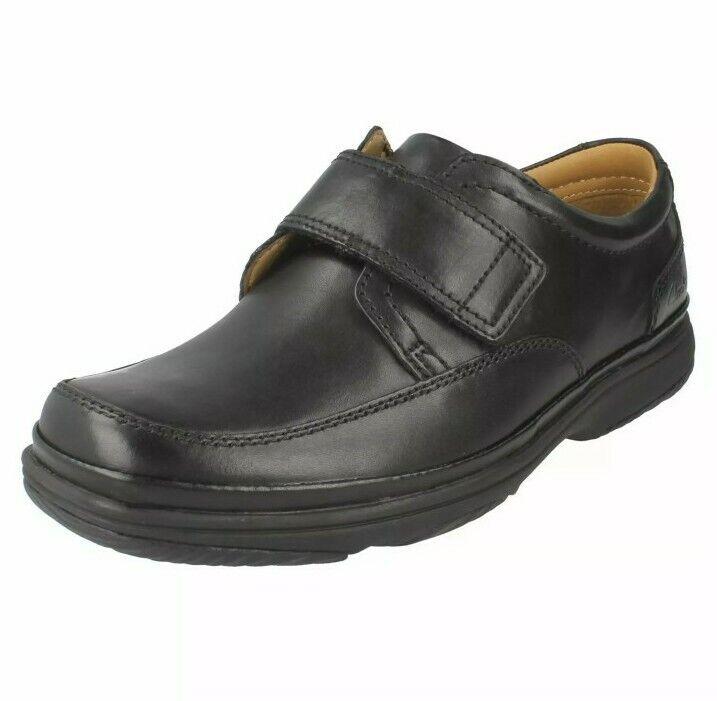 Clarks Men's Casual Rip Tape Shoe SWIFT TURN Black Leather UK 6 H