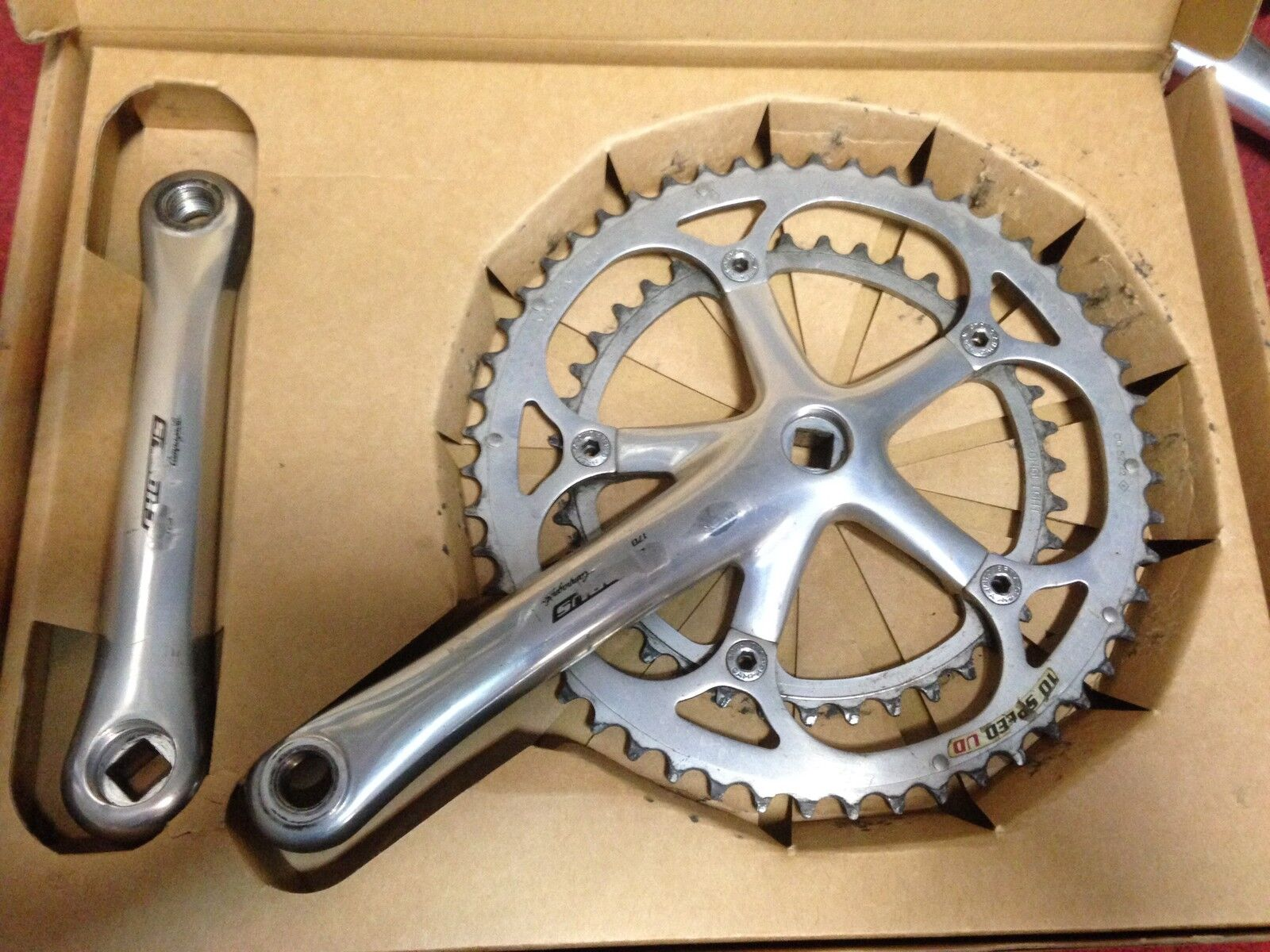 Guarnitura Campagnolo Chorus 10 bike Crankset 170 52-39 made in