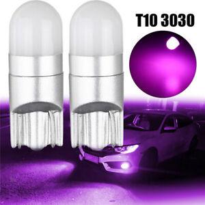 2x-T10-194-168-3030-SMD-LED-Lila-Super-Helle-Auto-Seitenlicht-Standlicht-12V-5