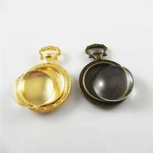 8-Sets-Gold-Bronze-Alloy-Round-Base-Glass-Cameo-Pendants-Charms-Jewelry-Making