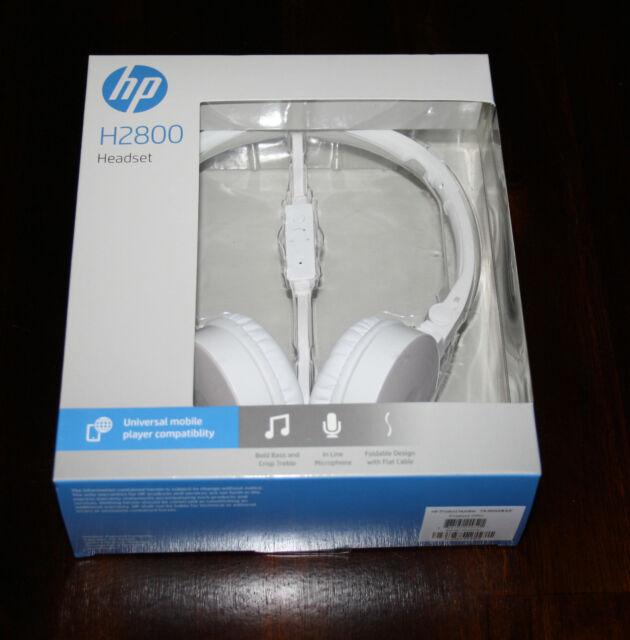 421da50ad78 HP H2800 White Headset - F6j04aa for sale online | eBay
