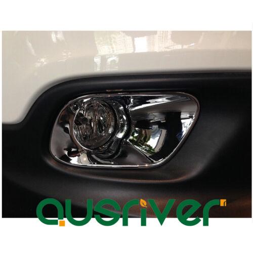 2Pcs Chrome Front Or Rear Fog Light Decor Frame Cover Trim for Jeep Cherokee 12