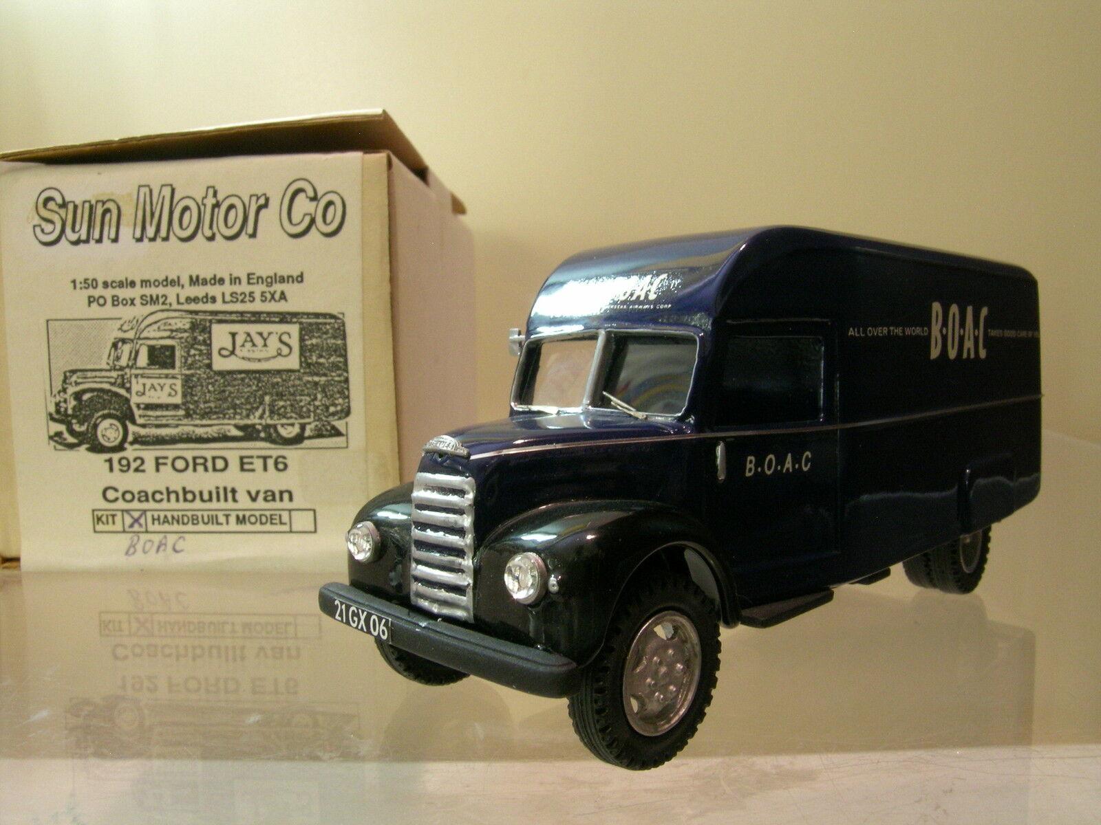 buscando agente de ventas SUN MOTOR CO NR.192 FORD FORD FORD THAMES ET6 VAN BOAC 1957 azul HANDBUILT SCALE 1 50  tienda de ventas outlet