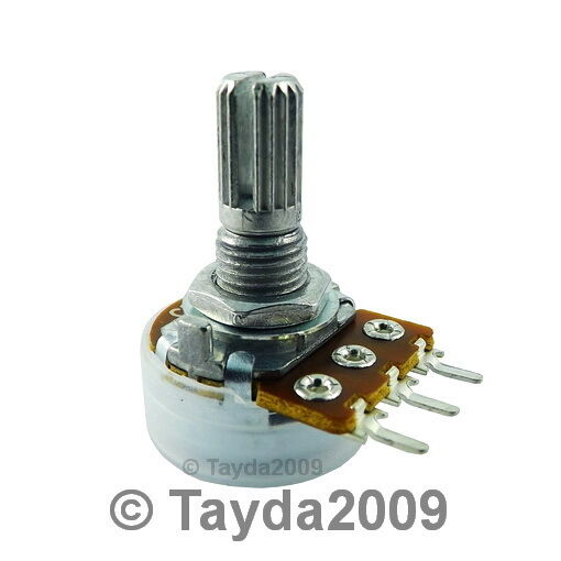 White Black Knob Cap 10 X 500K Ohm Linear Taper Potentiometer B500K Panel Pot