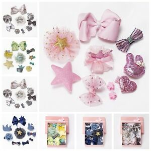 10Pcs-set-Baby-Girl-Hair-Clip-Bow-Flower-Barrettes-Party-Kids-Hairpins-Headwear