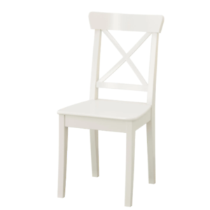 Ikea Ingolf Stuhl In Weiß Aus Massivholz Holzstuhl Stuhl
