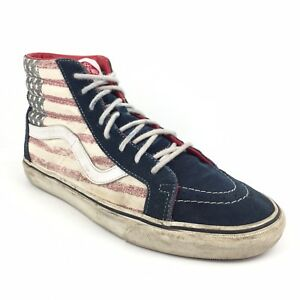 11c912bfd6 Men s Vans Sk8 Hi Americana Red Reissue Skate Shoes Size 10 Athletic ...