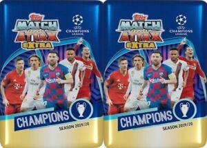 2-2019-20-Topps-UEFA-Champions-League-Soccer-Match-Attax-EXTRA-NIB-MIDI-TINS