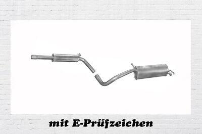 Montagesatz VW Caddy II 1.9 SDI TDI Mittelschalldämpfer Auspuff Mitteltopf