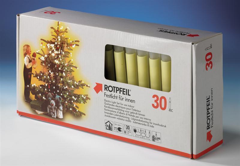 Rotpfeil Rotpfeil Rotpfeil LED-Lichterkette Innen 30-teilig warmweiß mattiert elfenbein Weihnacht e7b404
