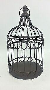 Decorative Metal Bird Cage.Details About Decorative Metal Bird Cage Planter Decor Brown Hinged Lid 12