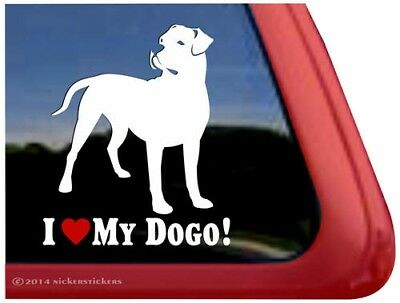 I Love My Dogo Dogo Argentino Vinyl Dog Window Decal