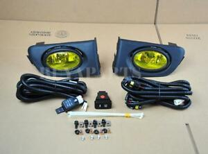 Lamp Switch 2001-2003 Honda Civic 2//4 DR 1 Pair Yellow Len Driving Fog Lights