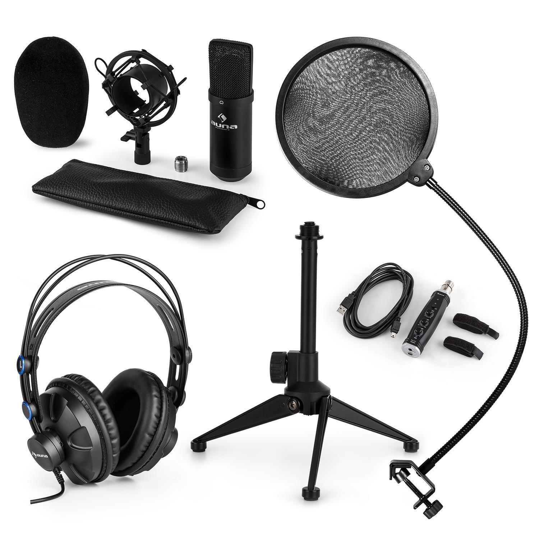 Auna Mikrofon Pop Windschutz Spinne KonGrüner Kopfhörer