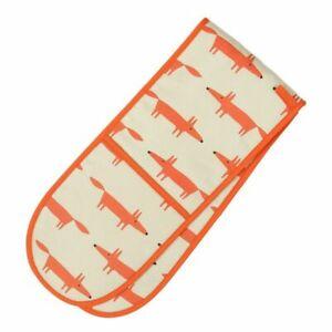 Scion-Dexam-Mr-Fox-Double-Oven-Glove-Mitt-Stone-Beige-Orange-Cotton-Insulated