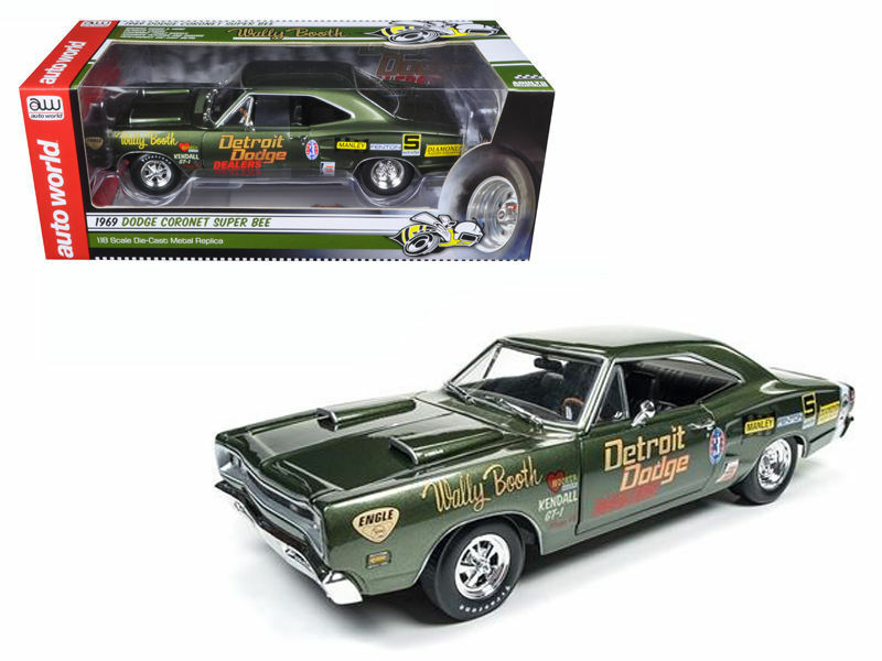 Die auto - welt 1,18 wally stand 1969 dodge cGoldnet super bee aw234 druckguss - auto