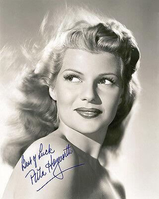 RITA HAYWORTH 1940's Screen Legend Photograph 8x10 Autograph RP | eBay