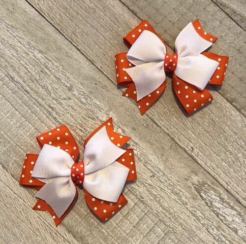 17 Colors to Choose From Swiss Dot Toddler Hair Bow Set